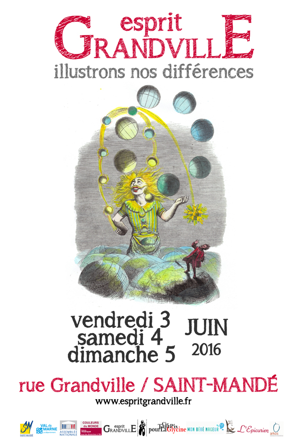 Esprit Granville, illustrons nos différences - le 3, 4 et 5 juin