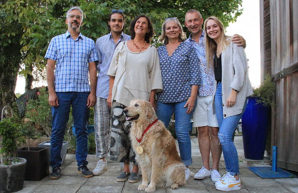 Edel avec ses familles