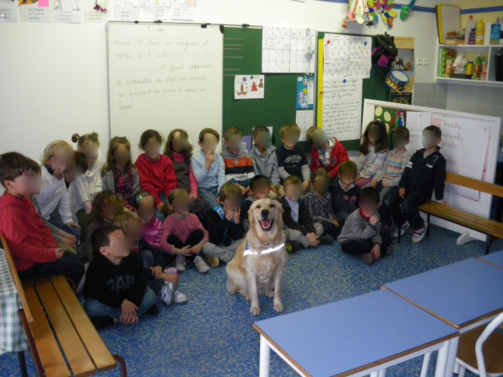 Photo de classe avec Juna