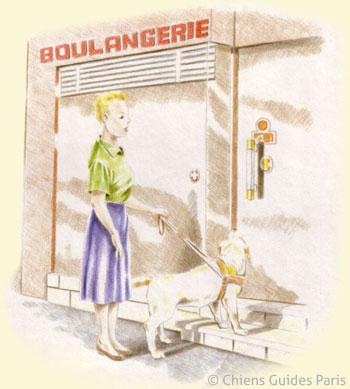 Alice se rend à la boulangerie, Flash lui indique la porte et la marche