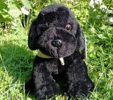 Grande peluche Labrador noir