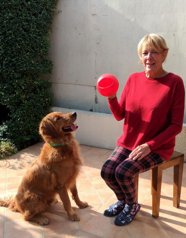 Brigitte et son chien guide Orson