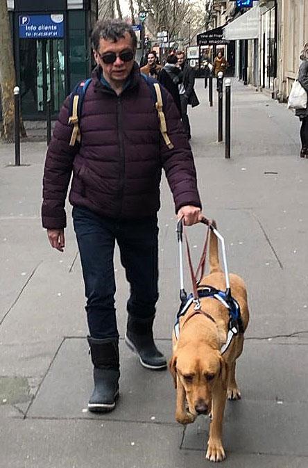Bruno et son chien guide Oxo